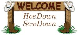 Hoe Down Sew Down logo