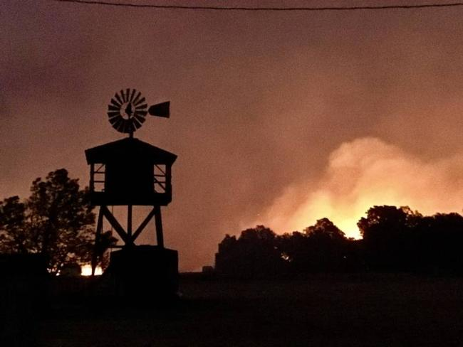 Fire near Rohnert Park by Al Francis