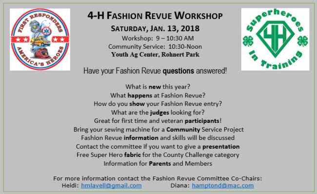 2017 4-H Fashion Revue Workshop